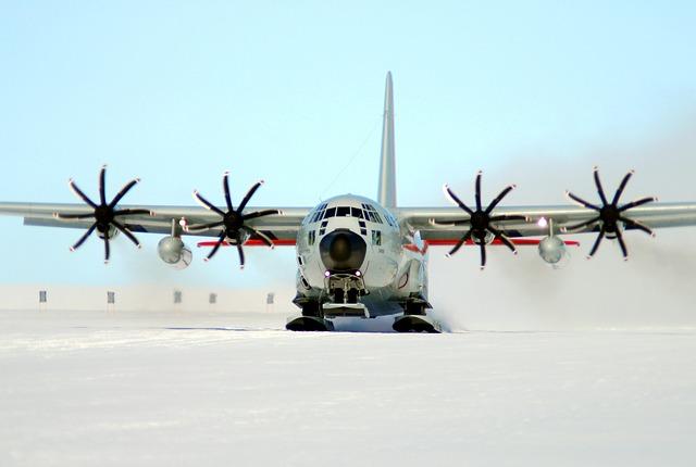 letadlo na sněhu