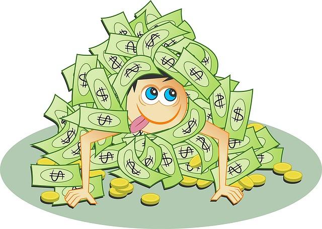 kupa peněz