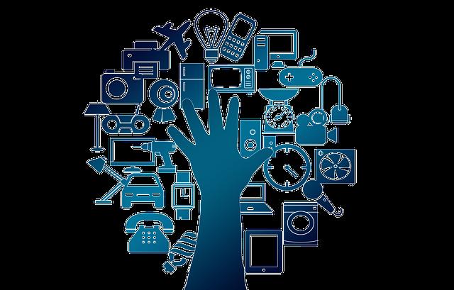 internet věcí, ruka, ovládání